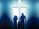 family with cross